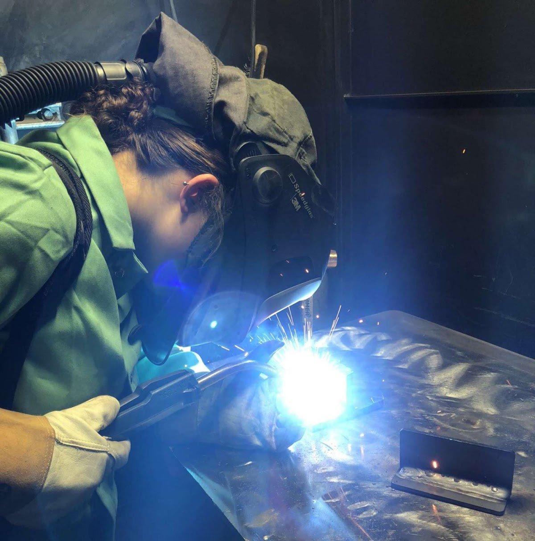 Apprentice Ana Burke Welding